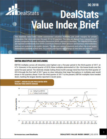 DealStats Value Index Brief
